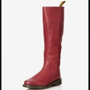 Dr. Marten's Gianna red leather tall boot